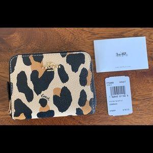 Coach leopard print wallet- NEW